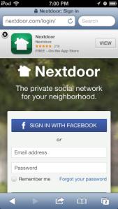 iOSNextdoorMobilePage